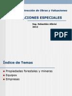 Valuaciones Especiales-Propiedades, Forestales, Mineras, Equipos