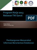 Program Kerja 2013 Relawan TIK Garut