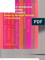Tschumi Bernard State Architecture Beginning 21st Century