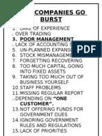 Why Companies Go Burst