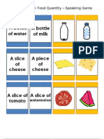 ESL Food Quantity Speaking Cards