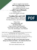 Bill Green Catalina Flyer 2013