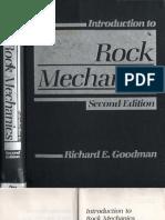 Goodman R E - Introduction to Rock Mechanics 2nd Edition