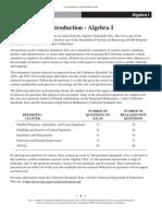Algebra 1 CST Release Questions