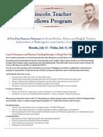 Metro D.C. and National Lincoln Teacher Fellowships