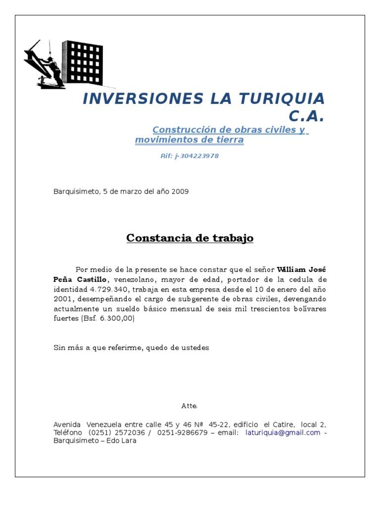 Autoescuela Peñacastillo carta de trabajo auto guard ado) | política