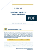 Folgat Solar Telecom Applications