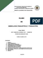 Silabo Semiologia Psiquiatrica y Psiquiatria 2013