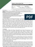 StudyInTaiwan Study Plan 10-31-2008v2-Chuc - Copy
