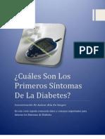 Cuáles Son Los Primeros Síntomas De La Diabetes