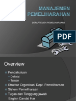 Manajemen Pemeliharaan Pt Petrokimia Gresik