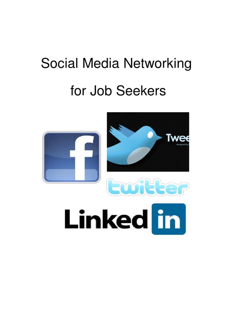 Social Media Networking For Job Seekers Digital Social Media
