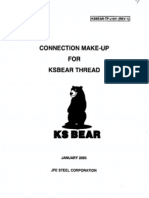 Connection Make Up Torque for JFE Bear
