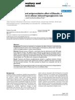 Antihyperlipidemic and Antiperoxidativ