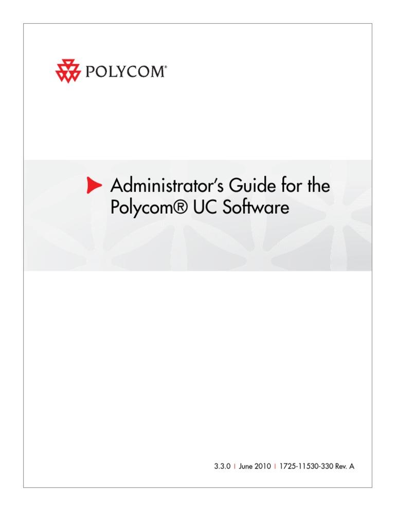 polycom admin guide ucs v3 3 0 session initiation protocol voice rh es scribd com Polycom Conference Phone polycom cma admin guide