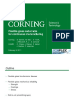 Flexible Glass Substrates for Continuous Manufacturing