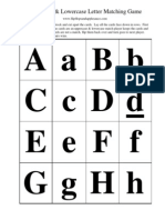 ABC Uppercase Lowercase Matching Game