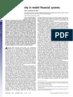 """Size and Complexity in Model Financial Systems"" (Arinaminpathy, Kapadia, May; PNAS 2012)"
