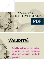 Validity and Reliabilty of Scales
