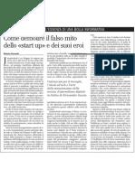 Il falso mito dello «start up», il libro di Jumpinshark sul giornalismo digitale in Italia - il Manifesto 19.03.2013