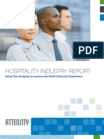 Industry Report Hospitality