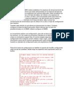 Peocedimiento de Configuracion de Un DMBS