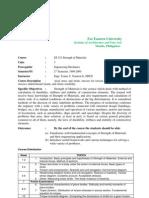 ES 321 (Strength of Materials) Syllabus