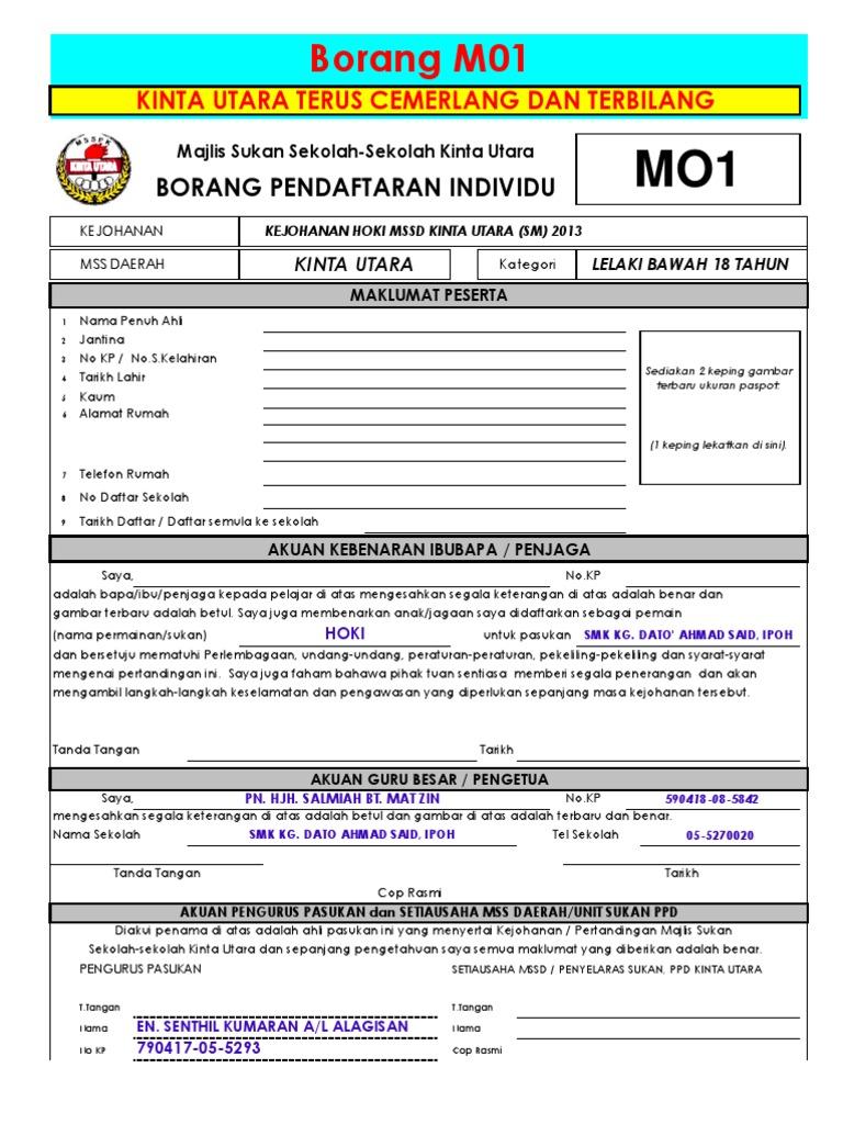Borang M01 M02 Lelaki