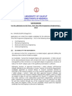 Notification PhD Engg