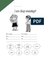 Clothing Worksheet