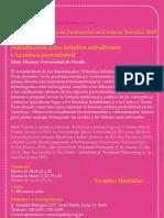 Curso Estudios Sub Alter Nos y La Crítica Post Colonial