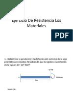 Ejercicio de Resistencia Los Materiales