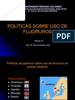 Politicas Sobre Uso de Fluoruros UPLA