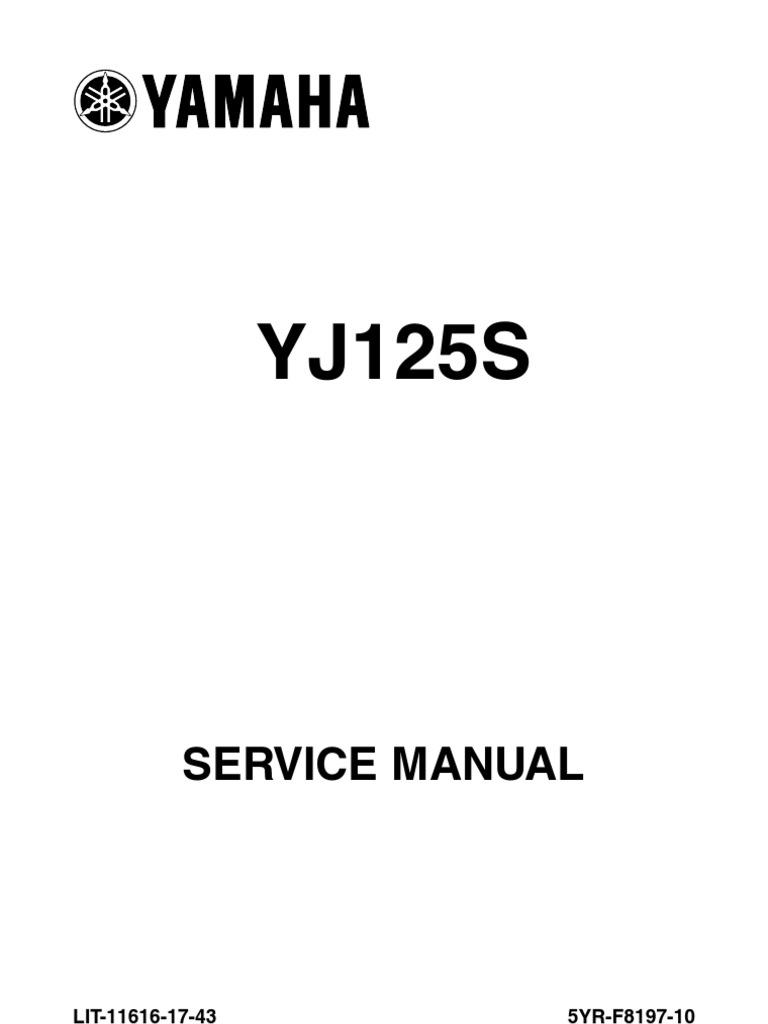 2006 yamaha vino 125 motorcycle service manual