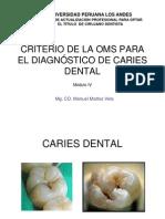 Criterios de Diagnostico Para Caries CPO - UPLA