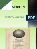 "Fisika Modern ""Relativitas Khusus"""