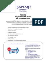 P1 Key Examinable Areas