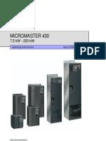 Siemens Micromaster 430 Manual