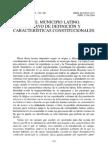 EL MUNICIPIO LATINO. ENSAYO DE DEFINICIÓN Y CARACTERÍSTICAS CONSTITUCIONALES