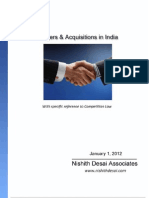 merger and acquisition project report
