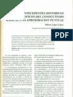 Antecedentes Historicos y Filosoficos Del Conductismo Radical Una Aproximacion Puntual1994