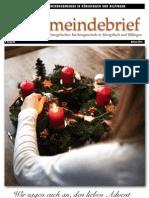 Gemeindebrief 2012 12 Advent - 9. Ausgabe