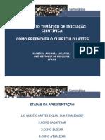 Seminariolattes2011 Como Preencher o Curriculo Lattes