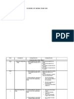 Scheme of Work Science 6-2012