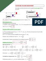Physique 13 Systeme Masse Ressort