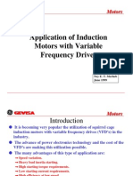 Application of induction motor with variable speed drive