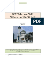 062 Who Are WE? - Where Do WE 'fit in'?
