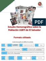Karla Avelar (Comcavis Trans), Estudio hemerográfico sobre lapoblación LGBTI de El Salvador