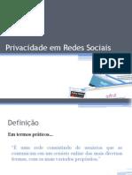 Redes Sociais - IC Individual