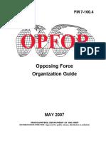 FM 7-100.4 OPFOR Opposing Force Organisation Guide